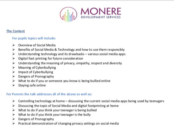 Upcoming workshops on Social Media Awareness