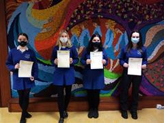 Presentation of ICDL Certificates to Ard Scoil na nDéise students