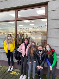 Ard Scoil na nDéise participates in Dungarvan Creative windows